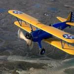 Vol en patrouille avec un Boeing Stearman