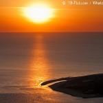 21h14 : Rayon de Soleil sur la pointe du Cap Ferret…