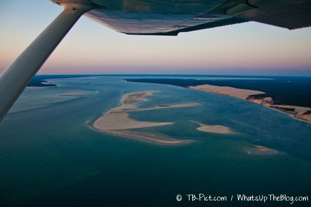 21h19 : Les Passes, le Banc d'Arguin, la Dune du Pila. La marée sera haute dans 30 minutes…